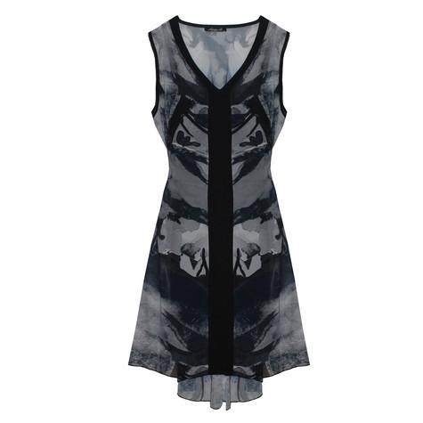 SophieB Black & Grey Sleeveless Dress