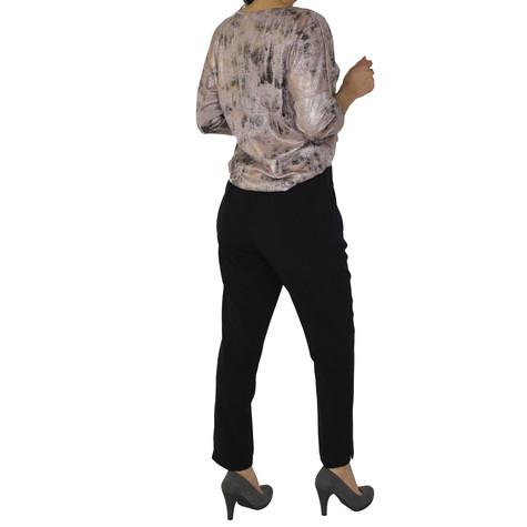 Zapara Black Slim Leg Tousers
