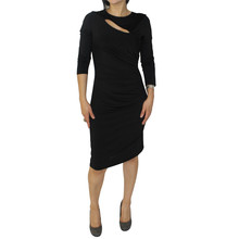 Zapara Black Long Sleeve Dress