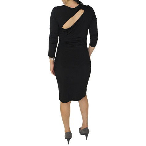 Zapara Black Long Sleeve Dress