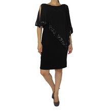 Scarlett Cape Sequence Black Dress