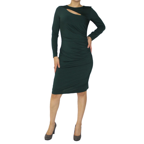 Zapara Emerald Long Sleeve Dress