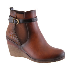 Susst Asha Tan Wedge Ankle Boot