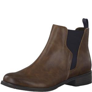 Marco Tozzi Cognac Plain Front Chelsea Boot