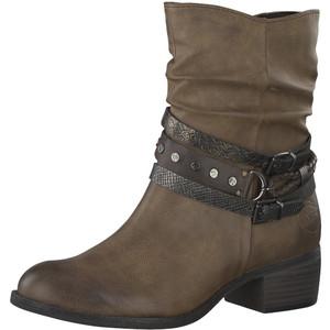 Marco Tozzi Cognac Plain Front Ankle Boot