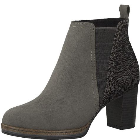 Marco Tozzi Grey High Top Ankle Boot