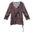 SophieB Red & Black Paisley Pattern Top