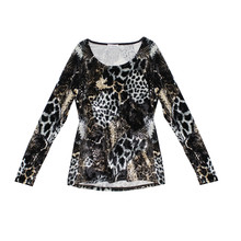 SophieB Black & White Animal Print Top