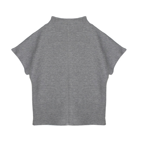 SophieB Grey Chimney Ribbed Top