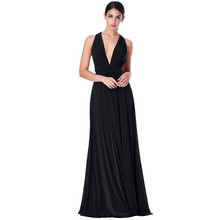 Goddiva BLACK MULTI WAY PLEATED MAXI DRESS