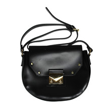 Mimosa Black Chloe Style Gold Clasp Bag