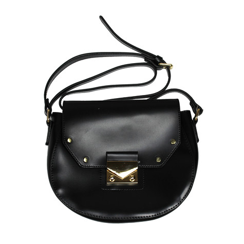 Mimosa Black Chloe Style Gold Clasp Bag