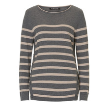 Betty Barclay Grey & Beige Stripe Knit