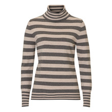 Betty Barclay Turtle Neck Grey & Beige Stripe Knit