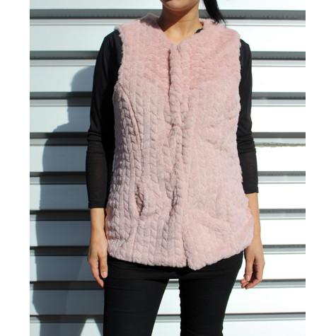 Teezher Rose Fun Fur Sleeveless Jacket