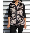 Teezher Zebra Reversible Black Sleeveless Jacket