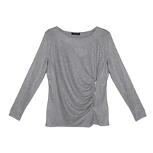 SophieB Mid Grey Zipper Top