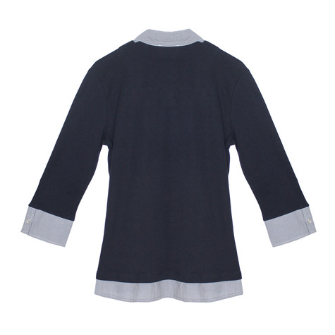Twist Check Navy 2 in 1 Top