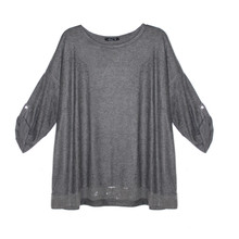 SophieB Dark Grey Easy Loose Top