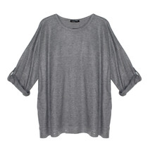 SophieB Grey Round Neck Easy Loose Top