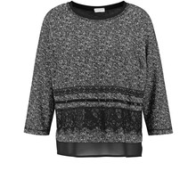 Gerry Weber Black 3/4 Sleeve Round Neck Top