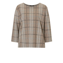 Betty Barclay Beige Round Neck Check Top