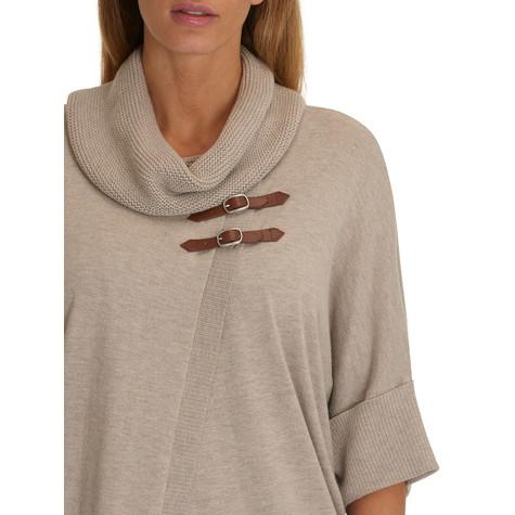 Betty Barclay Taupe Melange Knit Cardigan