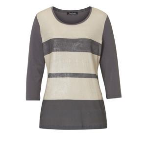 Betty Barclay Beige & Grey Stripe Knit