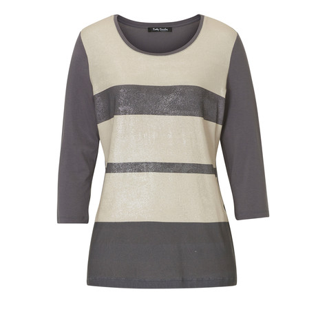 Betty Barclay Beige & Grey Stripe Knit