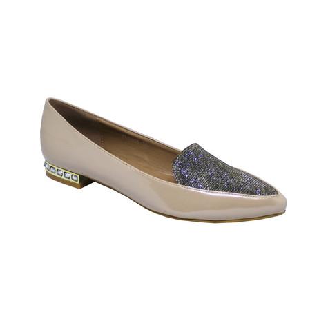 Lunar  Beige Diamante Detail Shoes