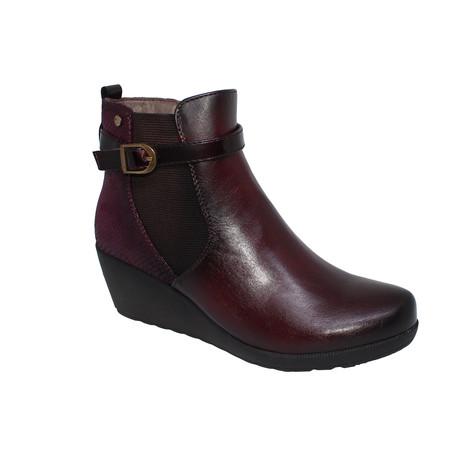 Patrizio Como Burgundy Wedge Boots