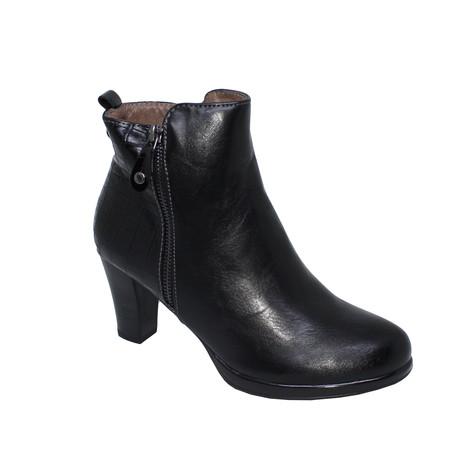 Patrizio Como Lago Black Zip Heel Boots