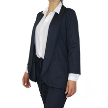 SophieB Navy Open Long Blazer Jacket