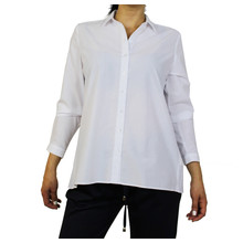 ERFO White Pleat Black Detail Blouse