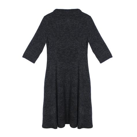 Twist Grey Swing 3/4 Sleeve Dress