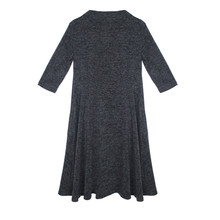Twist Grey Swing 3/4 Sleeve Dress