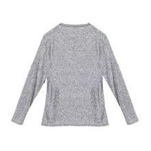 Twist Light Grey Chimney Neck Knit