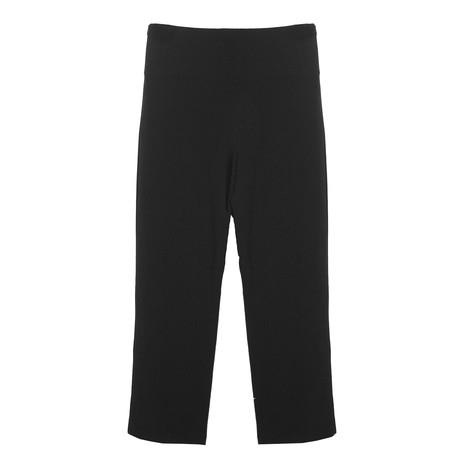 Zapara Black Tie Waist Wide Leg Trousers