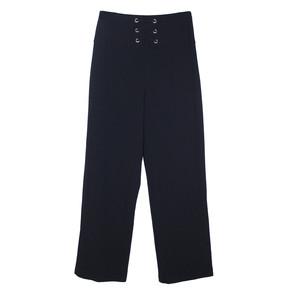 Zapara Navy Waist Tie Trousers