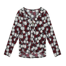 SophieB Wine Firework Pattern Zip Detail Top