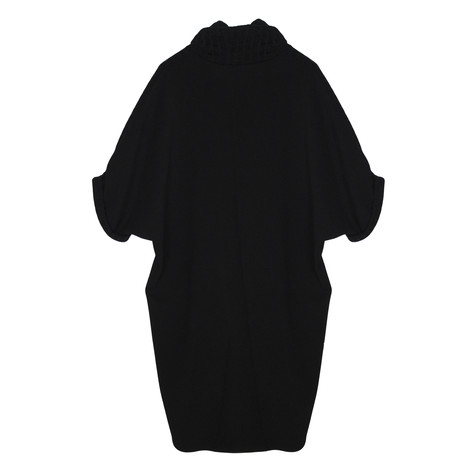 SophieB Black Turtle Neck Short Sleeve Dress