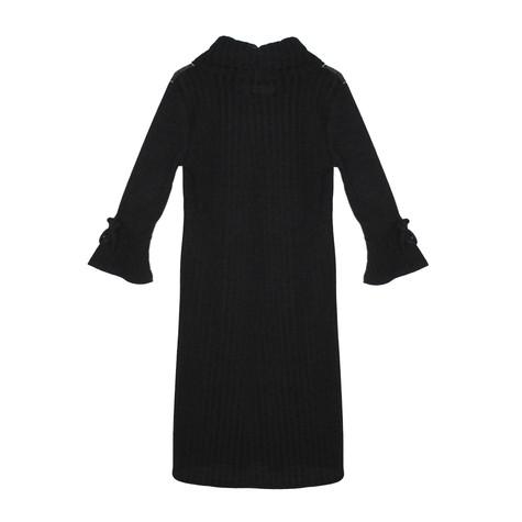 SophieB Swirl Pattern Black Turtle Neck Dress