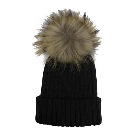 Victoria Grey Furry Bobble Hat