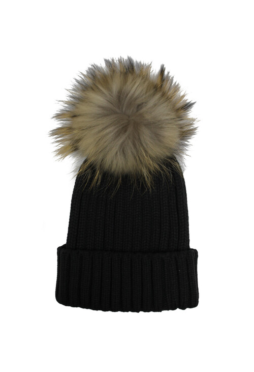 Victoria Grey Furry Bobble Hat