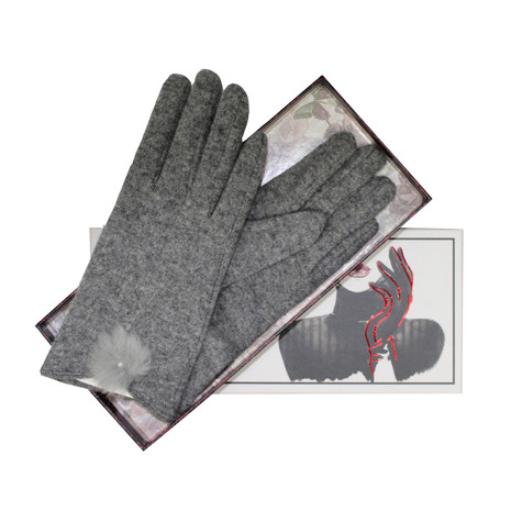 Something Special Grey Luxury Classic Wool Gloves