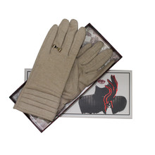 Something Special Beige Luxury Classic Wool Gloves
