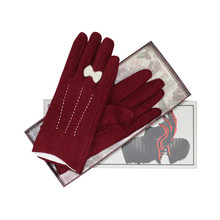 Something Special Burgandy Classic Wool Gloves