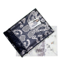 Something Special Navy Pattern Luxury Shawl Scarf