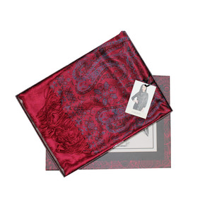 Something Special Dark Red Leopard Pattern Shawl Scarf