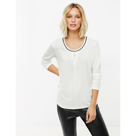 Gerry Weber Long sleeve top with glitter edging